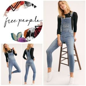 New Free People Lexden Denim Overalls